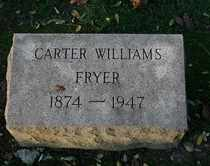 FRYER, CARTER WILLIAMS - Jefferson County, Kentucky   CARTER WILLIAMS FRYER - Kentucky Gravestone Photos