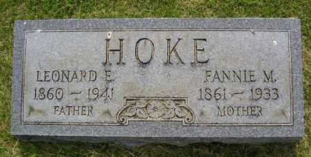 HOKE, FANNIE M. - Jefferson County, Kentucky   FANNIE M. HOKE - Kentucky Gravestone Photos