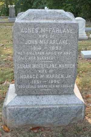 WARREN, SARAH MCFARLANE - Jefferson County, Kentucky | SARAH MCFARLANE WARREN - Kentucky Gravestone Photos