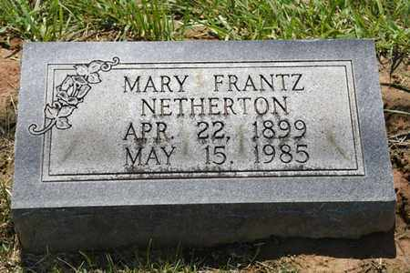 NETHERTON, MARY - Jefferson County, Kentucky | MARY NETHERTON - Kentucky Gravestone Photos
