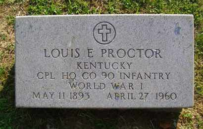 PROCTOR (VETERAN WWI), LOUIS (NEW) - Jefferson County, Kentucky | LOUIS (NEW) PROCTOR (VETERAN WWI) - Kentucky Gravestone Photos