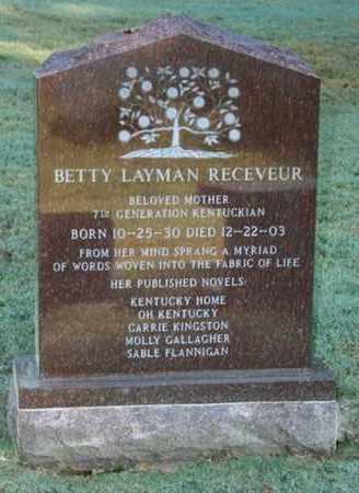 RECEVEUR, BETTY LAYMAN - Jefferson County, Kentucky   BETTY LAYMAN RECEVEUR - Kentucky Gravestone Photos