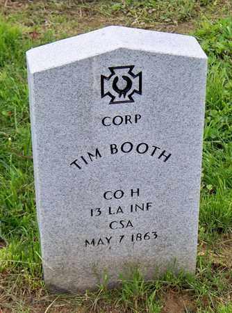 BOOTH (VETERAN CSA), TIM - Kenton County, Kentucky | TIM BOOTH (VETERAN CSA) - Kentucky Gravestone Photos