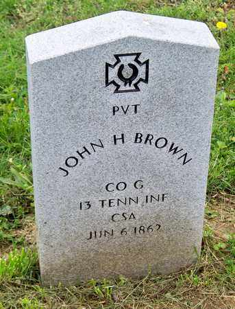 BROWN (VETERAN CSA), JOHN H - Kenton County, Kentucky | JOHN H BROWN (VETERAN CSA) - Kentucky Gravestone Photos
