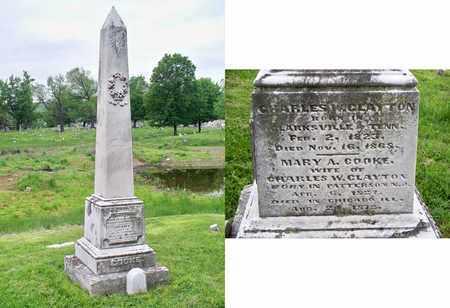 COOKE CLAYTON, MARY A - Kenton County, Kentucky | MARY A COOKE CLAYTON - Kentucky Gravestone Photos