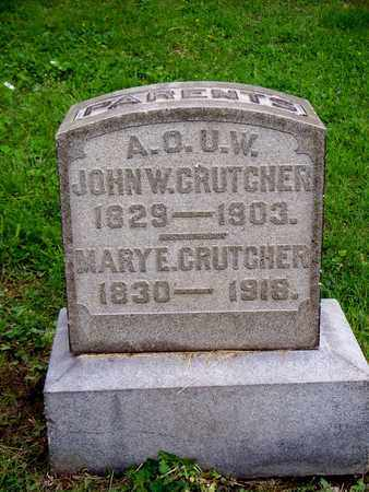 CRUTCHER, JOHN W - Kenton County, Kentucky | JOHN W CRUTCHER - Kentucky Gravestone Photos
