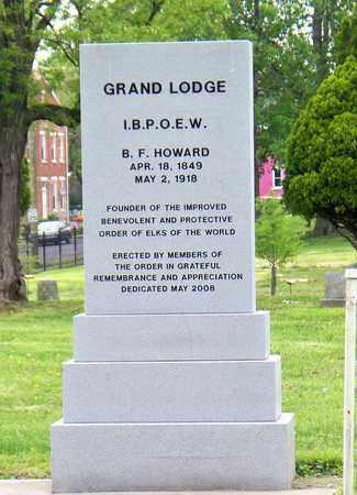 HOWARD (FAMOUS), B F - Kenton County, Kentucky   B F HOWARD (FAMOUS) - Kentucky Gravestone Photos