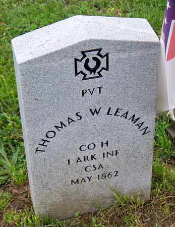 LEAMAN (VETERAN CSA), THOMAS W - Kenton County, Kentucky | THOMAS W LEAMAN (VETERAN CSA) - Kentucky Gravestone Photos