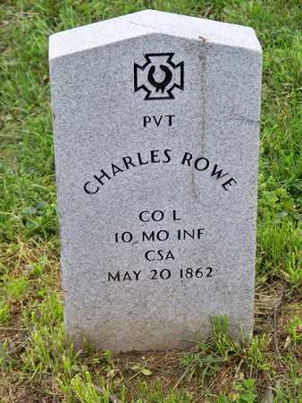 ROWE (VETERAN CSA), CHARLES - Kenton County, Kentucky   CHARLES ROWE (VETERAN CSA) - Kentucky Gravestone Photos