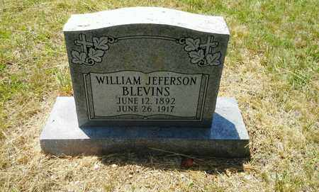 BLEVINS, WILLIAM JEFFERSON - Lawrence County, Kentucky | WILLIAM JEFFERSON BLEVINS - Kentucky Gravestone Photos