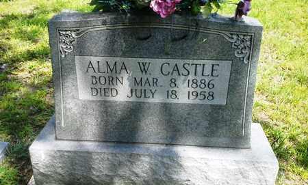 CASTLE, ALMA W - Lawrence County, Kentucky | ALMA W CASTLE - Kentucky Gravestone Photos