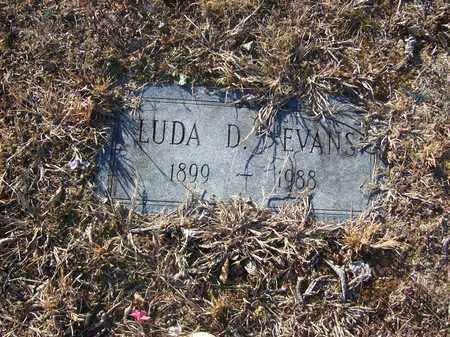 EVANS, LUDA D - Lawrence County, Kentucky | LUDA D EVANS - Kentucky Gravestone Photos
