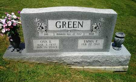GREEN, OVA E - Lawrence County, Kentucky | OVA E GREEN - Kentucky Gravestone Photos