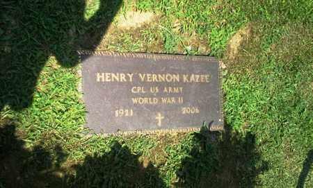 KAZEE (VETERAN WWII), HENRY VERNON - Lawrence County, Kentucky | HENRY VERNON KAZEE (VETERAN WWII) - Kentucky Gravestone Photos