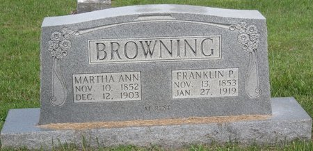 BROWNING, FRANKLIN PIERCE - Muhlenberg County, Kentucky | FRANKLIN PIERCE BROWNING - Kentucky Gravestone Photos