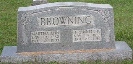 BROWNING, MARTHA ANN - Muhlenberg County, Kentucky   MARTHA ANN BROWNING - Kentucky Gravestone Photos