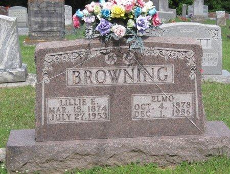 "WHITMER BROWNING, LILLIE ELLEN ""ELLIE"" - Muhlenberg County, Kentucky | LILLIE ELLEN ""ELLIE"" WHITMER BROWNING - Kentucky Gravestone Photos"
