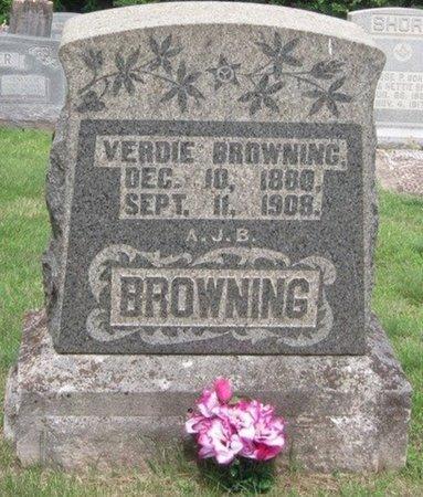 BROWNING, VERDIE - Muhlenberg County, Kentucky | VERDIE BROWNING - Kentucky Gravestone Photos