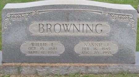 BROWNING, NANNIE JOSEPHINE - Muhlenberg County, Kentucky | NANNIE JOSEPHINE BROWNING - Kentucky Gravestone Photos