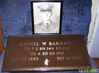 BARRETT (VETERAN), DANIEL W - Owsley County, Kentucky   DANIEL W BARRETT (VETERAN) - Kentucky Gravestone Photos
