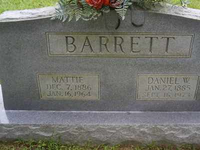 BARRETT, DANIEL W - Owsley County, Kentucky   DANIEL W BARRETT - Kentucky Gravestone Photos