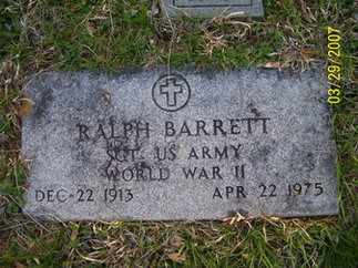 BARRETT (VETERAN WWII), RALPH - Owsley County, Kentucky | RALPH BARRETT (VETERAN WWII) - Kentucky Gravestone Photos