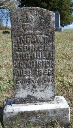 MCCALLISTER, INFANT SON - Pulaski County, Kentucky   INFANT SON MCCALLISTER - Kentucky Gravestone Photos