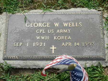 WELLS (VETERAN WWII KOR), GEORGE W. - Pulaski County, Kentucky | GEORGE W. WELLS (VETERAN WWII KOR) - Kentucky Gravestone Photos