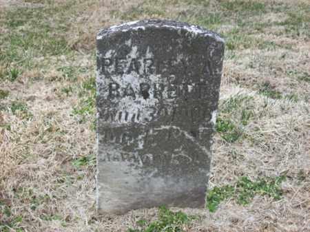 BARRETT, PEARLEY A - Rowan County, Kentucky | PEARLEY A BARRETT - Kentucky Gravestone Photos