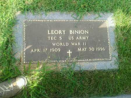 BINION (VETERAN WWII), LEORY - Rowan County, Kentucky | LEORY BINION (VETERAN WWII) - Kentucky Gravestone Photos