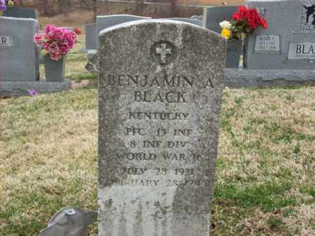 BLACK (VETERAN WWII), BENJAMIN A - Rowan County, Kentucky   BENJAMIN A BLACK (VETERAN WWII) - Kentucky Gravestone Photos