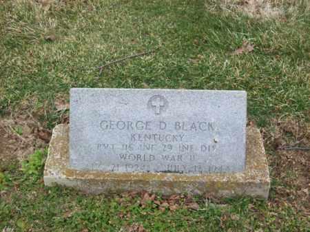 BLACK (VETERAN WWII), GEORGE D - Rowan County, Kentucky | GEORGE D BLACK (VETERAN WWII) - Kentucky Gravestone Photos