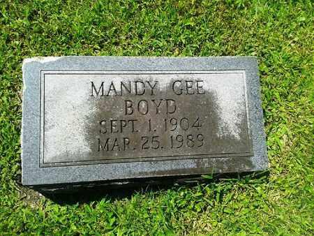 GEE BOYDE, MANDY - Rowan County, Kentucky | MANDY GEE BOYDE - Kentucky Gravestone Photos