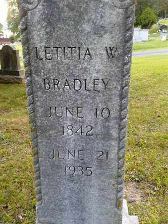 BRADLEY, LETITIA W - Rowan County, Kentucky | LETITIA W BRADLEY - Kentucky Gravestone Photos
