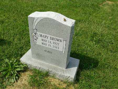 BROWN, MARY - Rowan County, Kentucky | MARY BROWN - Kentucky Gravestone Photos