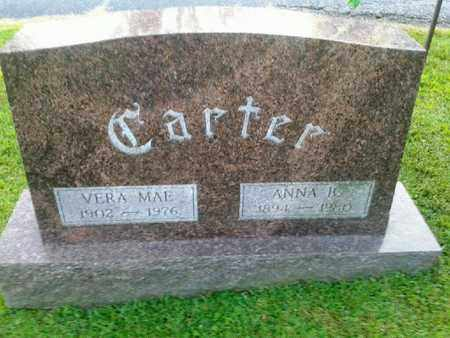 CARTER, VERA MAE - Rowan County, Kentucky   VERA MAE CARTER - Kentucky Gravestone Photos