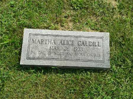 CAUDILL, MARTHA ALICE - Rowan County, Kentucky | MARTHA ALICE CAUDILL - Kentucky Gravestone Photos