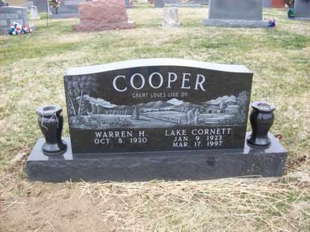 COOPER, LAKE - Rowan County, Kentucky | LAKE COOPER - Kentucky Gravestone Photos