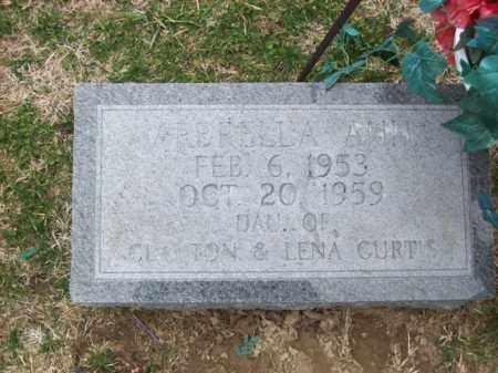 CURTIS, ARBRELLA - Rowan County, Kentucky   ARBRELLA CURTIS - Kentucky Gravestone Photos