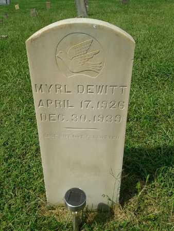 DEWITT, MYRL - Rowan County, Kentucky | MYRL DEWITT - Kentucky Gravestone Photos
