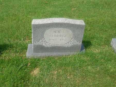 ELDRIDGE, ACIE L - Rowan County, Kentucky | ACIE L ELDRIDGE - Kentucky Gravestone Photos