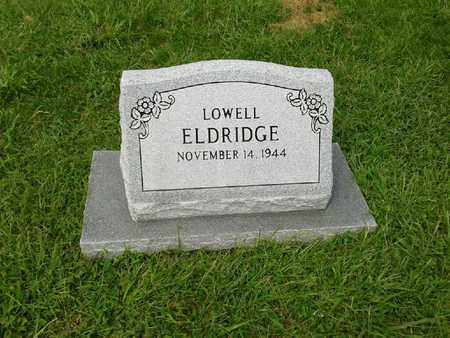 ELDRIDGE, LOWELL - Rowan County, Kentucky   LOWELL ELDRIDGE - Kentucky Gravestone Photos