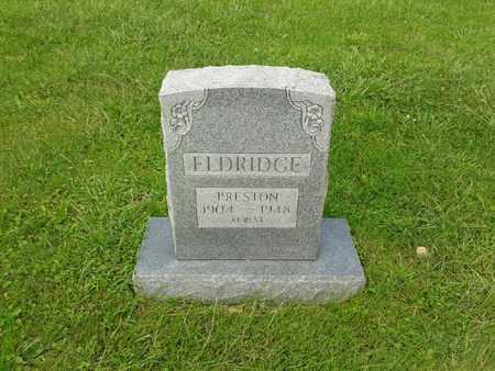 ELDRIDGE, PRESTON - Rowan County, Kentucky | PRESTON ELDRIDGE - Kentucky Gravestone Photos