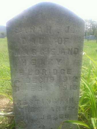 ELDRIDGE, SARAH J - Rowan County, Kentucky   SARAH J ELDRIDGE - Kentucky Gravestone Photos