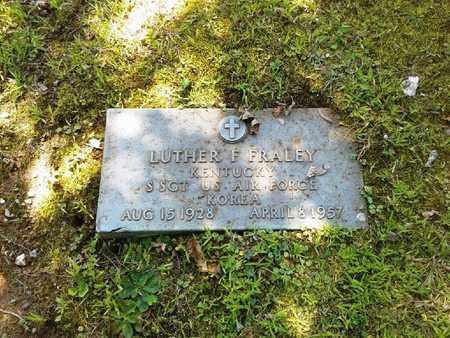 FRALEY (VETERAN KOR), LUTHER F - Rowan County, Kentucky   LUTHER F FRALEY (VETERAN KOR) - Kentucky Gravestone Photos
