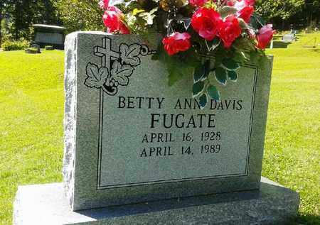 DAVIS FUGATE, BETTY ANN - Rowan County, Kentucky | BETTY ANN DAVIS FUGATE - Kentucky Gravestone Photos
