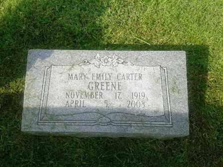 CARTER GREENE, MARY EMILY - Rowan County, Kentucky | MARY EMILY CARTER GREENE - Kentucky Gravestone Photos