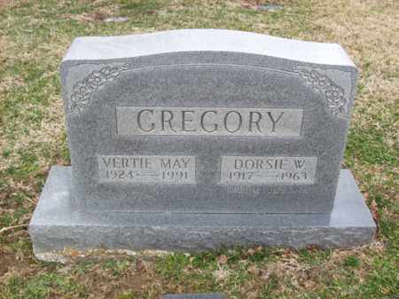 GREGORY, DORSIE W - Rowan County, Kentucky | DORSIE W GREGORY - Kentucky Gravestone Photos