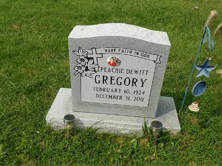 DEWITT GREGORY, PEACHIE - Rowan County, Kentucky   PEACHIE DEWITT GREGORY - Kentucky Gravestone Photos