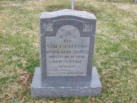 GREGORY (VETERAN WWII), SAM E - Rowan County, Kentucky   SAM E GREGORY (VETERAN WWII) - Kentucky Gravestone Photos